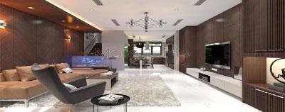 Thiết kế và thi công nội thất biệt thự Garmuda Hiện Đại - Anh Tùng