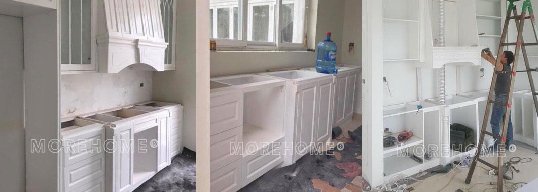 Thi công lắp đặt tủ bếp cho biệt thự