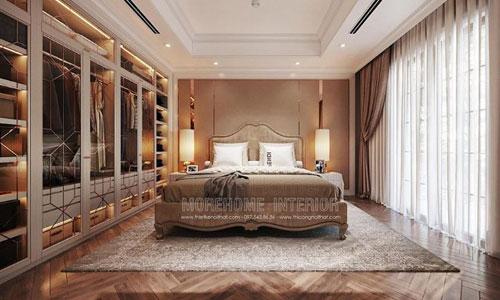 Thiết kế thi công nội thất phòng ngủ biệt thự imperia hải phòng