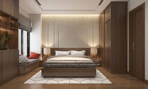 Thiết kế và thi công nội thất phòng ngủ chung cư Liễu Giai