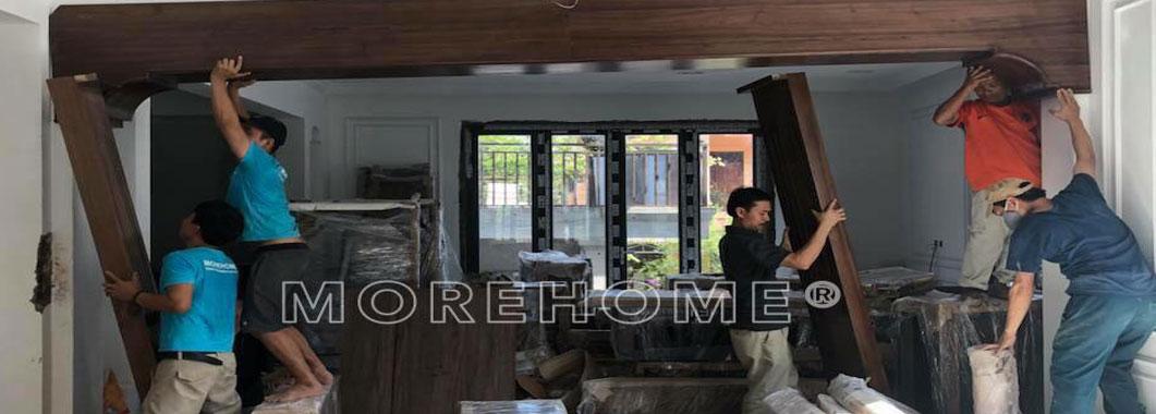Thi công nội thất gỗ óc chó tại biệt thự Hà Tĩnh