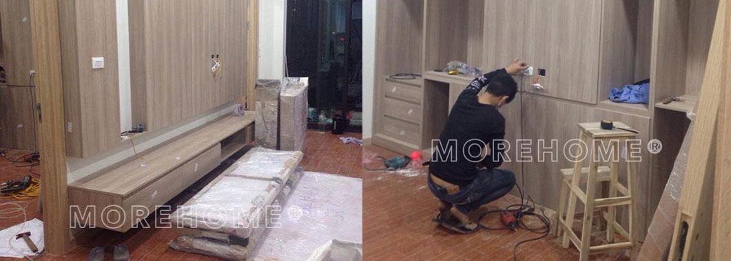 Thi công lắp đặt nội thất tại chung cư Mon City