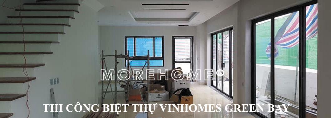 Đang thi công nội thất biệt thự Vinhomes Green Bay