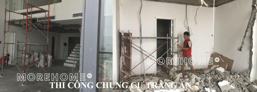 Thi công căn hộ Duplex tại chung cư Tràng An