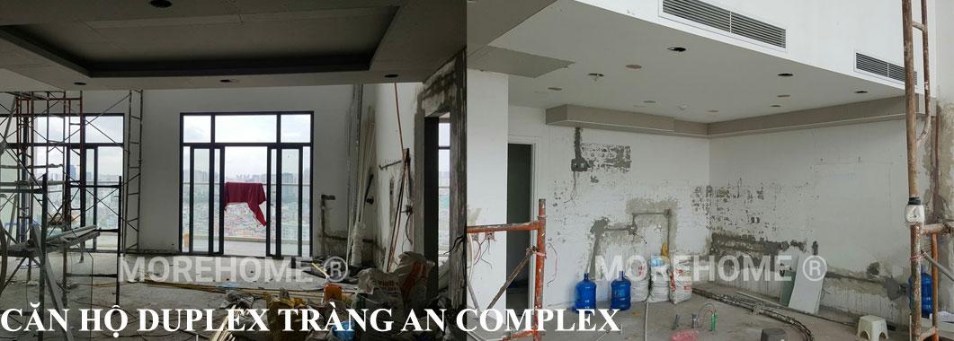 Cải tạo hệ thống điện nước căn hộ Duplex tại Tràng An Complex