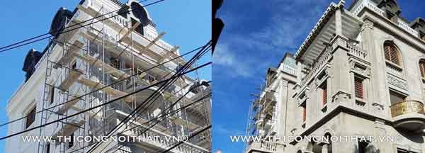 Xây biệt thự trọn gói 4 tầng phong cách tân cổ điển tại Vinh