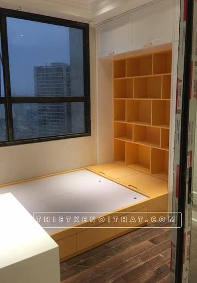Công trình thi công nội thất chung cư tân cổ điển D'capital Trần Duy Hưng