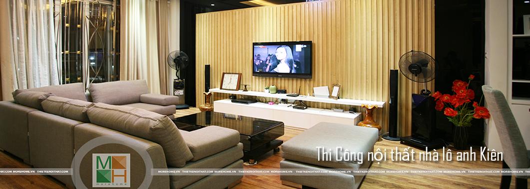 Thi công nội thất nhà lô phố - liền kề tại Khu đô thị Mỗ Lao- Hà Đông - Anh Kiên