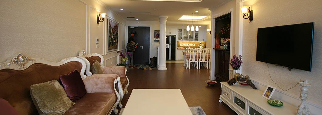 Thi công nội thất chung cư Mandarin Garden trường phái Tân cổ điển - Chị Lan