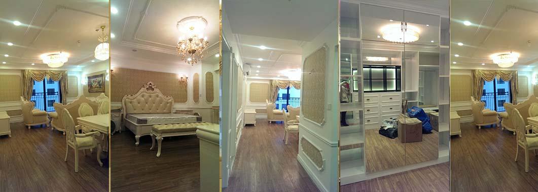 Thi công nội thất chung cư Times City theo phong cách tân cổ điển - Chị Hà Anh