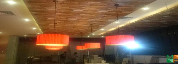 Công trình thi công giấy dán tường vân gỗ tại tòa nhà IPH