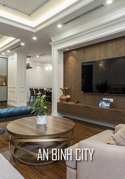 Công trình thi công nội thất chung cư An Bình City hiện đại